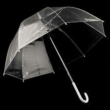 83 cm Durchsichtig automatik Regenschirm Partnerschirm groß stabil sturmsicher