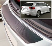 Toyota Avensis MK3 Estate - Carbon Style rear Bumper Protector