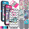Luxury Pattern Printed TPU PC Hybrid Heavy Duty Shockproof Case Cover For iPhone