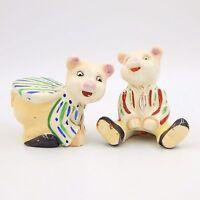 Vintage Pig Salt and Pepper Shakers Set Novelty Collectible Japan Porcelain