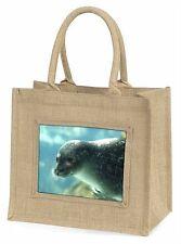 Sea Lion Large Natural Jute Shopping Bag Christmas Gift Idea, AF-S1BLN