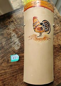 HAND CRAFTED & HAND PAINTED CERAMIC INDOOR WALL PLAQUE  - CHICKEN DESIGN