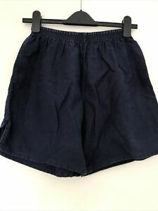 """Mens Navy Blue Cotton Rugby Shorts 36"""" (91cm)"""