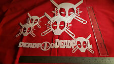 Youth Adult T Shirt Hat Airbrush Stencils Death Pool Set Of 6 Fast Free Ship!