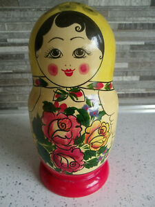 Large Russian Babushka Doll 10 Dolls.
