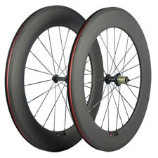 88mm Carbon Wheelset Clinhcer Road Bike Carbon Fiber Front /Rear Wheels In USA