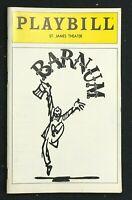 BROADWAY PLAYBILL - April 1981 - BARNUM - Jim Dale / Catherine Cox  b2