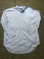 Ralph Lauren Men's 17 1/2 TALL Button Down Dress Shirt Classic Fit 36/37 Blue