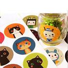 Kawaii Cat&Doll Paper Sticker Decoration Decal DIY Sealing Sticker Craft OZ