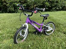 "Woom 2 14"" Kids Pedal Bike Purple Less Than A Year Old! Freewheel installed"