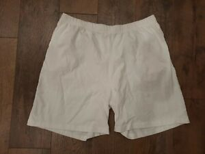 Laura Scott Women's Casual Shorts Size Large 100% Cotton Stretch Comfort White
