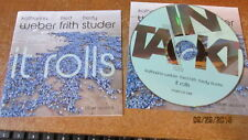 KATHARINA WEBER FRED FRITH FREDY STUDER It Rolls Adv press w booklet 11-track CD