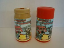 Pair Of 1984 Aladdin Transformers Thermoses