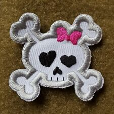 HELLO KITTY SCULL JOLLY ROGERS TACTICAL MORALE AUFNÄHER KLETT PATCH  AIRSOFT NEU