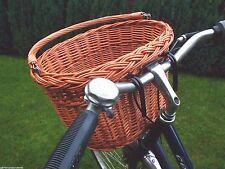 Fahrradkorb Einkaufskorb Oval 40 cm für Lenker vorn Korb Rattan Weide Geschenk