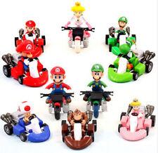 "Set 10pcs Lot Super Mario Bros 2"" Kart Pull Back Car Figures Kids Toy Gifts USA"