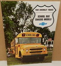 SCHOOL BUS CHASSIS MODEL WORK TRUCK 68 DEALER DEALERSHIP 1968 CHEVY BROCHURE