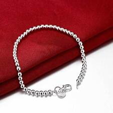 Stunning 925 Sterling Silver Classic 4MM High Polished Bracelet Bead Gorgeous