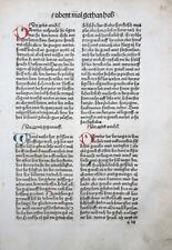 INKUNABEL BLATT SCHATZBEHALTER INITIALEN ABENDMAHL CHRISTI KOBERGER 1491
