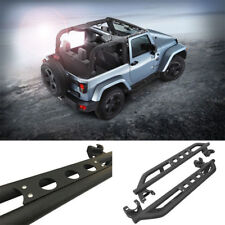 For 2007-2017 Jeep Wrangler JK 2 Door Armor Nerf Bar Pair Set Side Step Textured