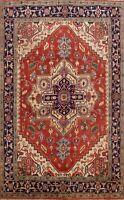 Geometric Traditional RUST Heriz Serapi Oriental Area Rug Wool Hand-knotted 8x10