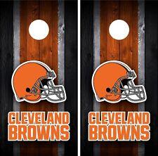 Cleveland Browns Cornhole Wrap Decal Stickers Vinyl Gameboard Skin Set JC072