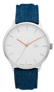 Chpo Brand Watch Armbanduhr Uhr Khorshid Denim Silver Blue Vegan & PETA