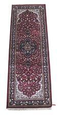 Artificial Kashmir Silk Deep Red Handmade Rug 2' x 6' Oriental Runner