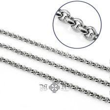 4m Stainless Steel Rolo Chain - 4 Metres, 2.5mm x 1mm Open Links