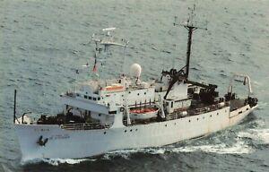 Postcard USNS De Steiguer T-AGOR-12 Oceanographic Research Ship