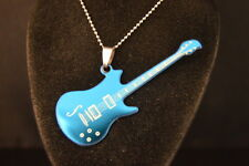 Blue electric GUITAR PENDANT - NECKLACE Jewelry BRAND NEW USA SELLER! music band