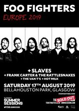 Foo Fighters concert poster Europe tour 2019 / Glasgow / 18x13 in