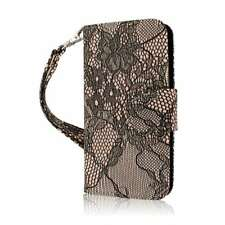 For iPhone SE / 5S / 5 Case PU Leather Wallet Credit Card ID Pocket Strap Cover