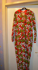 I LOVE CHIPS  HOODED WOMEN SIZE  SMALL FANCY DRESS COSTUME ALL IN ONE  LOUNGE