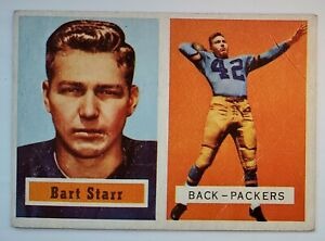 1957 Topps #119 Bart Starr HOF Packers Rookie RC Good (2.0) Crease and Scratch