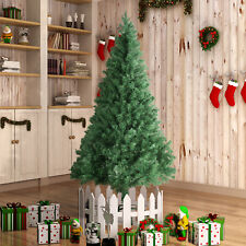7FT Unlit Artificial Christmas Tree Holiday Season PVC w/Stand Indoor Outdoor