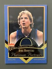 2002-03 Fleer Tradition Platinum Portraits #PP/DN Dirk Nowitzki Game Worn Jersey