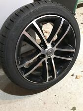 "VAUXHALL CORSA D BLACK EDITION 17"" ALLOY WHEEL AND TYRE"