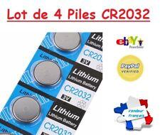 LOT de 4 Piles Boutons Lithium 3V CR2032 - Montre Jouets Balance Calculatrice