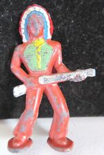 Vintage Barclay Lead Toy Figure Pod Foot Indian With Rifle B-252