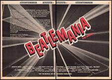 BEATLEMANIA: The Movie__Original 1981 Trade 3pg Print AD promo / poster__Beatles