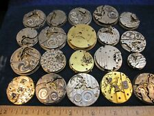 pocket watch movements lot of 20 vintage