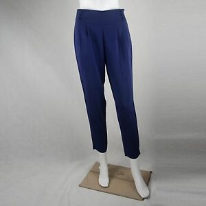 Forever 21 Women Navy Blue Buttln Ankle Pants Pants Size Extra Small