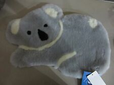 Genuine Merino Koala Shape Sheepskin Cushion Cover/ Pillow/Rug/GREY-WHITE-BLACK