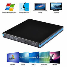 Blu-ray 3D Player Slim USB 3.0 Burner External CD-RW DVD-RW Writer for PC MAC AU