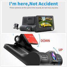 New listing 4' Hd 1080P Car Dvr 3 Camara Lens With Rear View Dash Auto Cam Video Recoorder