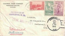 1943 Chicago, Illinois Atypical Cancel on Special Delivery, Stamp Dealer Cover ~