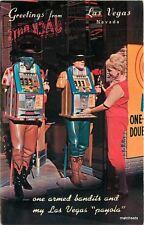 1950s One Arm Bandits slot machines Cowboys Western Las Vegas Nevada 10018