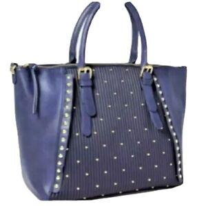 Blue Tote Bag Large Purse Handbag Charming Charley  Tailey Stud