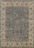 Geometric Gray Oushak Oriental Area Rug Dining Room Handmade Wool Carpet 8x10
